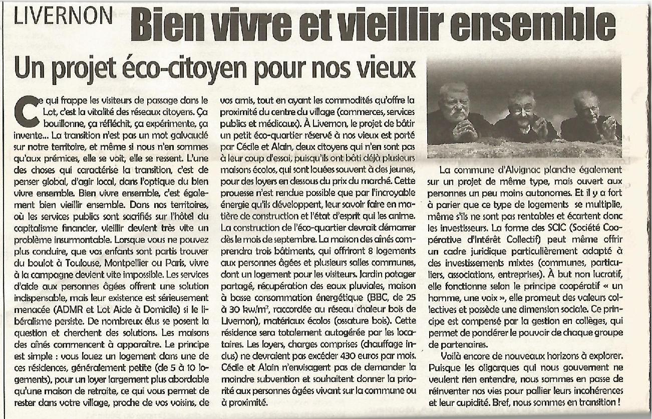 Site maison des aines article lea mars 2012