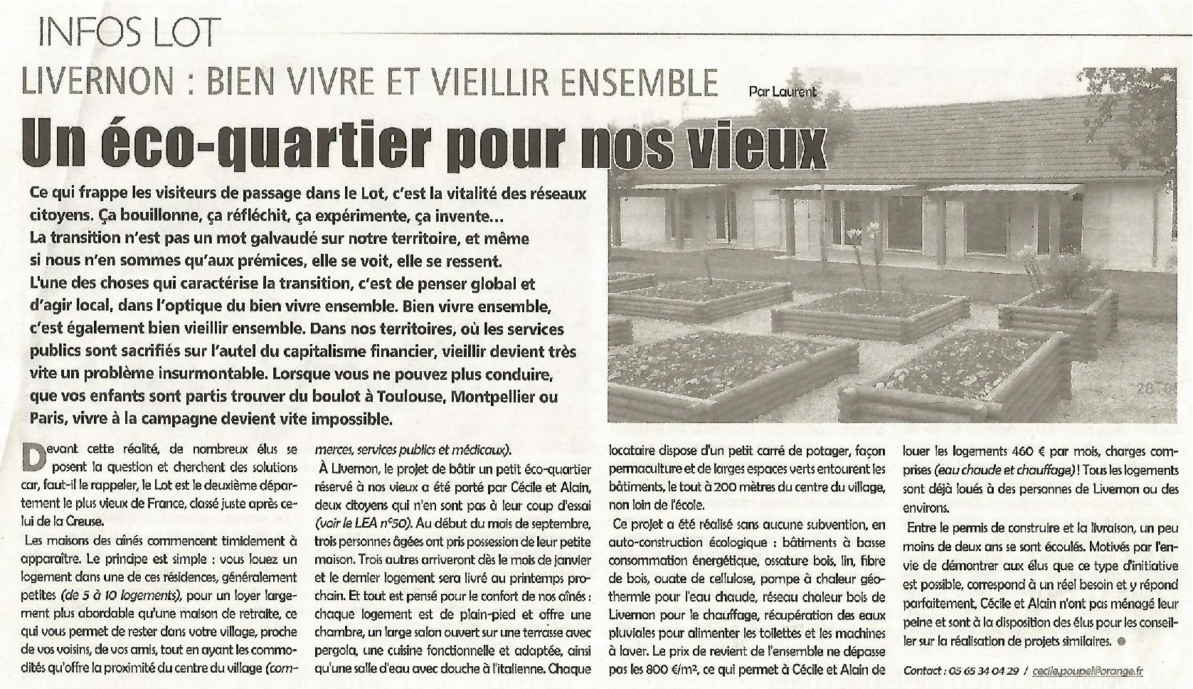Site maison des aines article lea septembre 2014