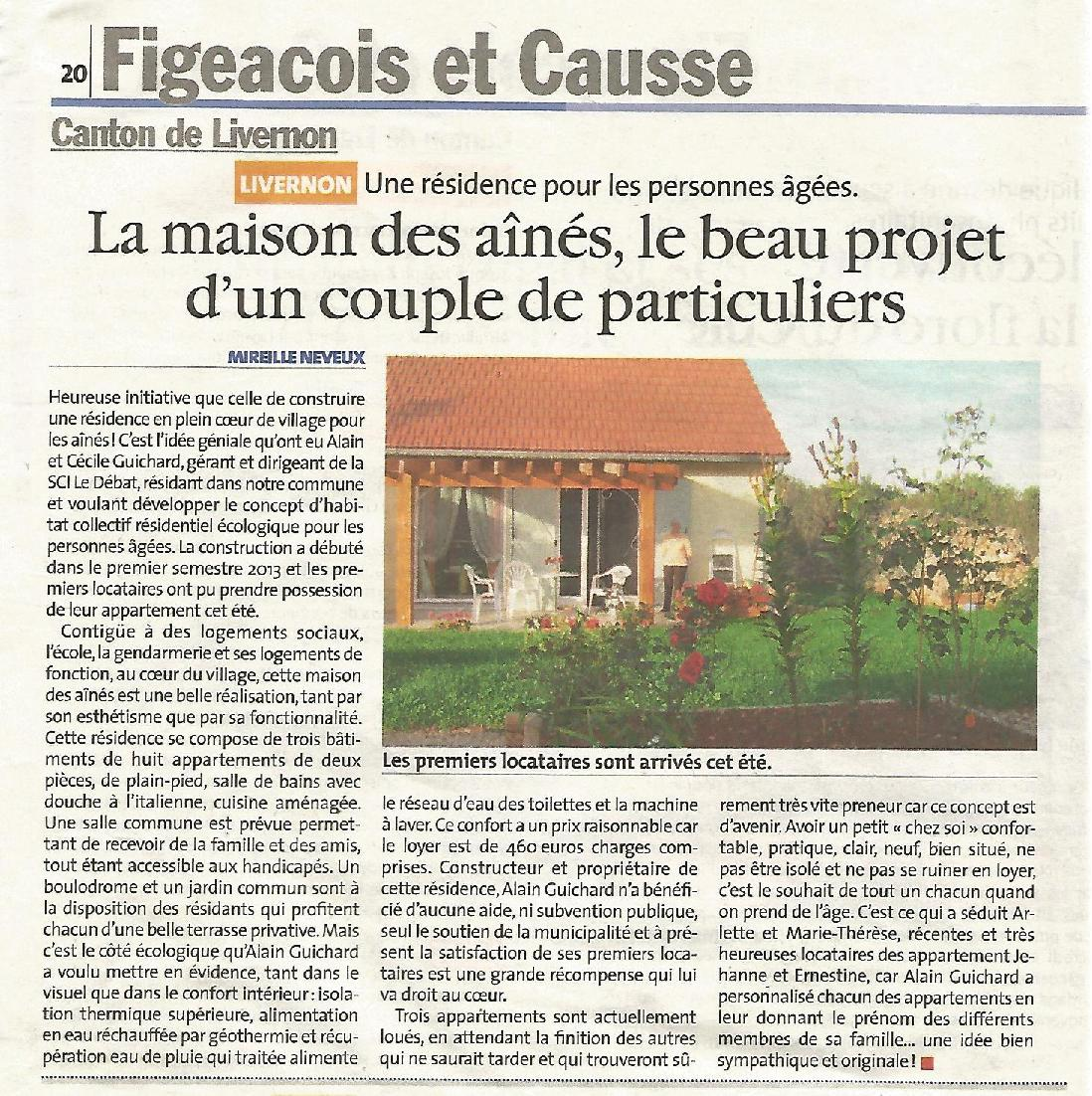 Site maison des aines article lvq octobre 2014